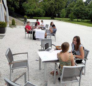 Break time in Study Academy Vienna