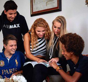IB Students studying